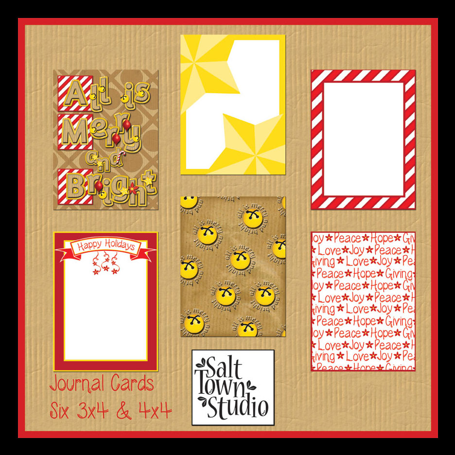 All is Merry and Bright Journal Cards