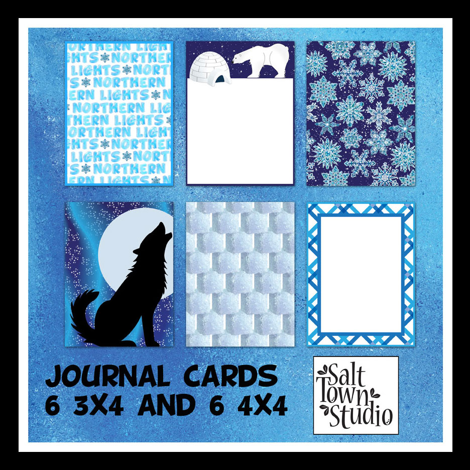 Northern Lights Journal Cards