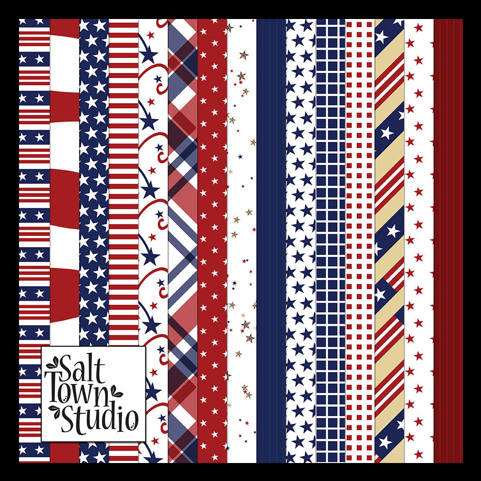 Red White & Blue Paper